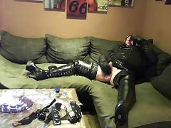 Micha DWT 6 -  Black High Heels Boots & Cum Drinking