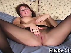 Arousing legs in tights fetish