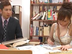 Chihaya Yutsuka hot Asian milf gets big tits fucked
