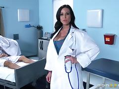 Two busty nurses have a wild threesome with a patient