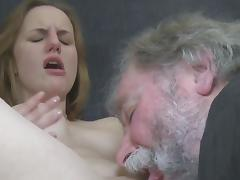 Old and Young, Blonde, Blowjob, Couple, Grandpa, Old Man