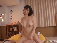 Nanako Mori jerks her man off before riding him