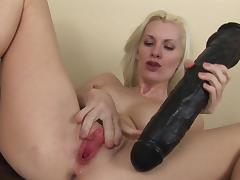 Milf blonde Brandi Edwards fucks with black toy