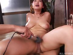 Juicy Aiuchi Tsukasa Goes Hardcore And Gets Masturbated With A Toy
