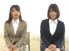 Japanese Girls Get Cumshot During Job Interview