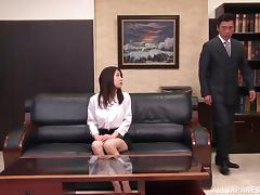 Sexy Asian Girl With Big Tits Enjoying A Doggy Style Fuck In Her Boss's Office