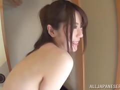 A cute Asian girl gives a blowjob and a handjob in a whirlpool