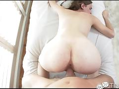 Tiny4K Pretty redhead deepthroat and fucked