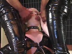 Sexy Blonde Gets Her Face Jizzed In A Hot MMF Threesome