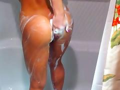 Amazing toned brunette taking a shower -DKDK-