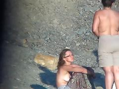 Assy fat chick is getting naked outdoors