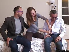 Amazing cuckold scene with slim amateur hussy Anfisa