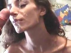 Hot wife takes facial