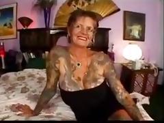 Tattoo, Anal, Granny, Mature, Old, Tattoo