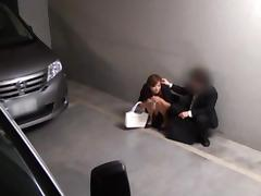 Office MILF Made Happy With A Fucking On Top Of Her Car