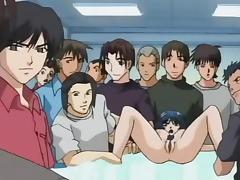 Anime, Anal, Anime, Big Tits, Creampie, Dress