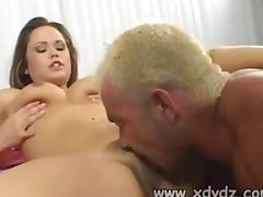 Kaci Star Plays With Her Boobs As Her Beaver gets porked