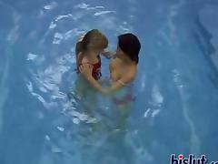 Jackie is a horny lesbian fucking in the pool