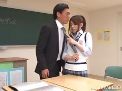 Emi Sasaki amazing Japanese teen seduces older teacher