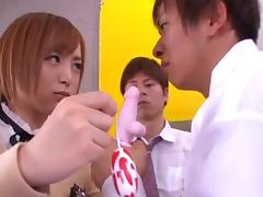 Yuu Namiki naughty Asian teen in school uniform mmf