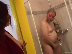 Mature redhead strumpet gets her twat hammered by old fart