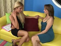 Super Hot Lesbian Pornstars Lick Pussy and Ass