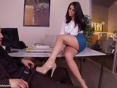 Leggy brunette goddess Adriana Chechik gets fucked by foot fetishist