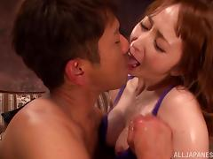 Oiled-Up Asian Girl With Big Beautiful Tits Enjoying A Hardcore Doggy Style Fuck