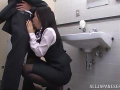 Miniskirt, Asian, Bath, Bathing, Bathroom, Blowjob