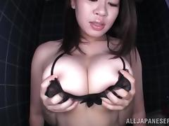 Incredibly Busty Asian Babe Gives The Hottest Titjob