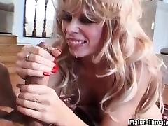 Mom and Boy, Angry, Blonde, Blowjob, Cumshot, Friend