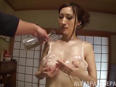 Marvelous Miku Hasegawa Masturbates A Dude's Big Cock