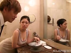 Bathroom, Asian, Bath, Bathing, Bathroom, Couple