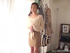 Japanese Babe In Sexy White Panties Gets Pounded Hard