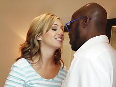 Hot interracial sex for the beautiful blonde babe Madelyn Monroe