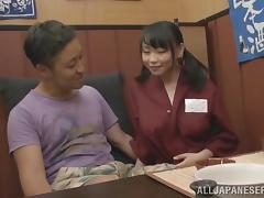 Bar, Asian, Bar, Big Tits, Couple, Handjob