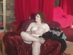 Czech fatty gets naked in the backstage