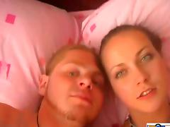 Lovely Russian Couple In A POV Shoot Caressing Each Other