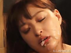 Incredible Yukiko Suo Gets A Cumshot In Her Dirty Mouth