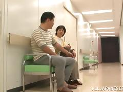 Naughty Japanese Hottie Fucks A Guy In The Toilet