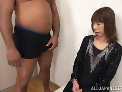 Skinny Japanese Mama Gets Black Huge Cock Hardcore Fuck