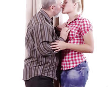 Elena can't believe how good this old man is at having sex