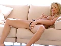 Blonde Victoria Zdrok is poking her snatch