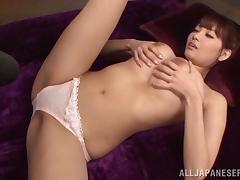Sizzling Asian Teen With Big Natural Tits Getting Her Hairy Pussy Fingered