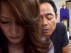 Japanese mama gets hot mature sex