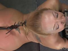 Bound, Ass, BDSM, Blonde, Bound, Fingering