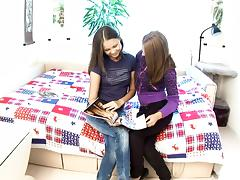 Gorgeous teens have one hell of a lesbian scene