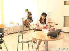 Sexy Asian girl Azusa Ishihara enjoys rear banging with a stranger