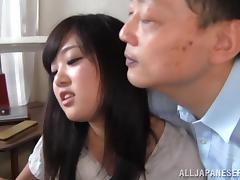 Hot Asian Dame With Long Hair Riding Heavy Dicks In A Threesome