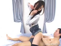 Noa is a hot Asian milf looking for cocks to suck